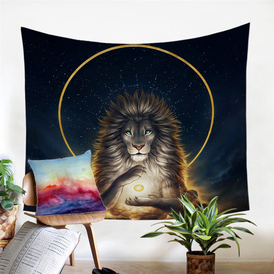 Soul Keeper Lion Tapestry