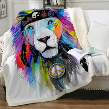 Load image into Gallery viewer, Lion Throw Blanket