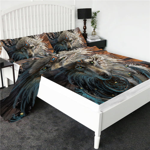 Wolf Warrior Bed Sheet set