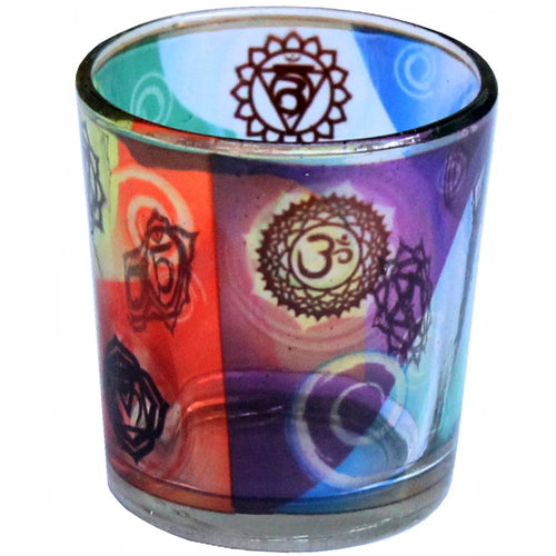 Chakra Glass Candle Votive
