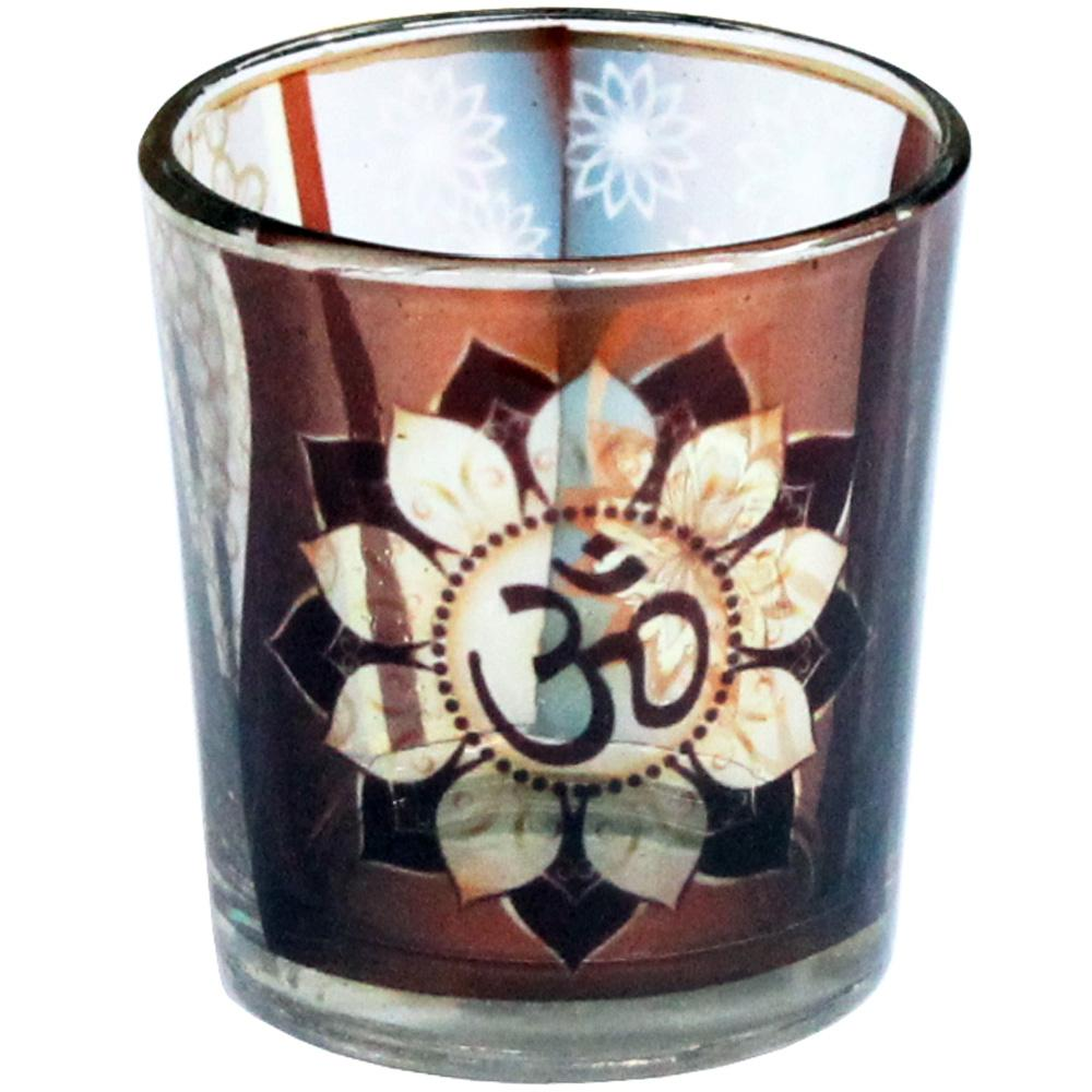 OM Glass Candle Votive