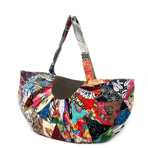 Extra Large Patchwork Boho Tote Bag