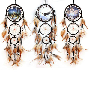 Indian BEAR Dreamcatcher with Feathers