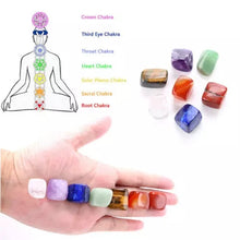 Load image into Gallery viewer, Natural 7 Crystal Healing Tumbled Stones Set