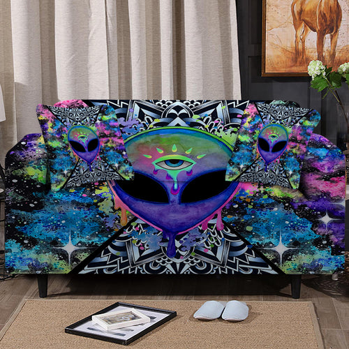 Trippy Alien Sofa Cover Set