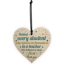 Load image into Gallery viewer, Wooden Heart- Teacher Gift