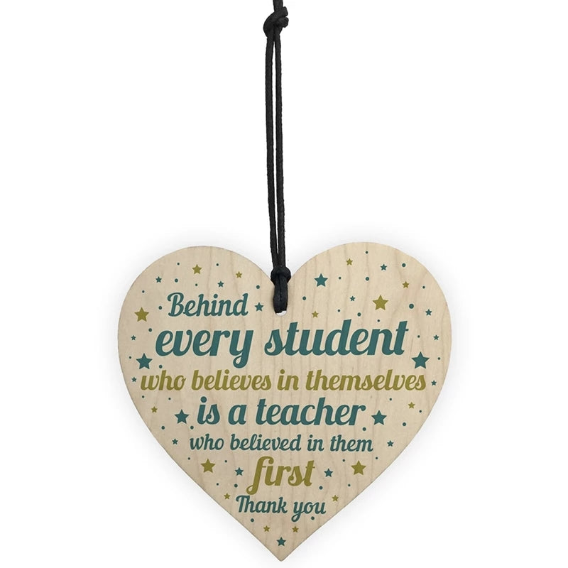 Wooden Heart- Teacher Gift