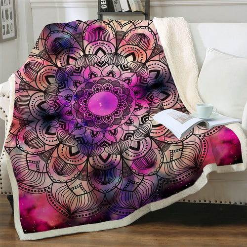 Vibrant Mandela Throw Blanket