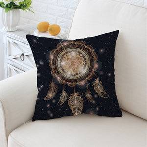 Boho Feather Dreamcatcher Cushion Cover