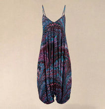 Load image into Gallery viewer, Blue & Plum Waves Jumpsuit