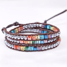 Load image into Gallery viewer, Chakra Crystal Balancing Wrap Bracelet