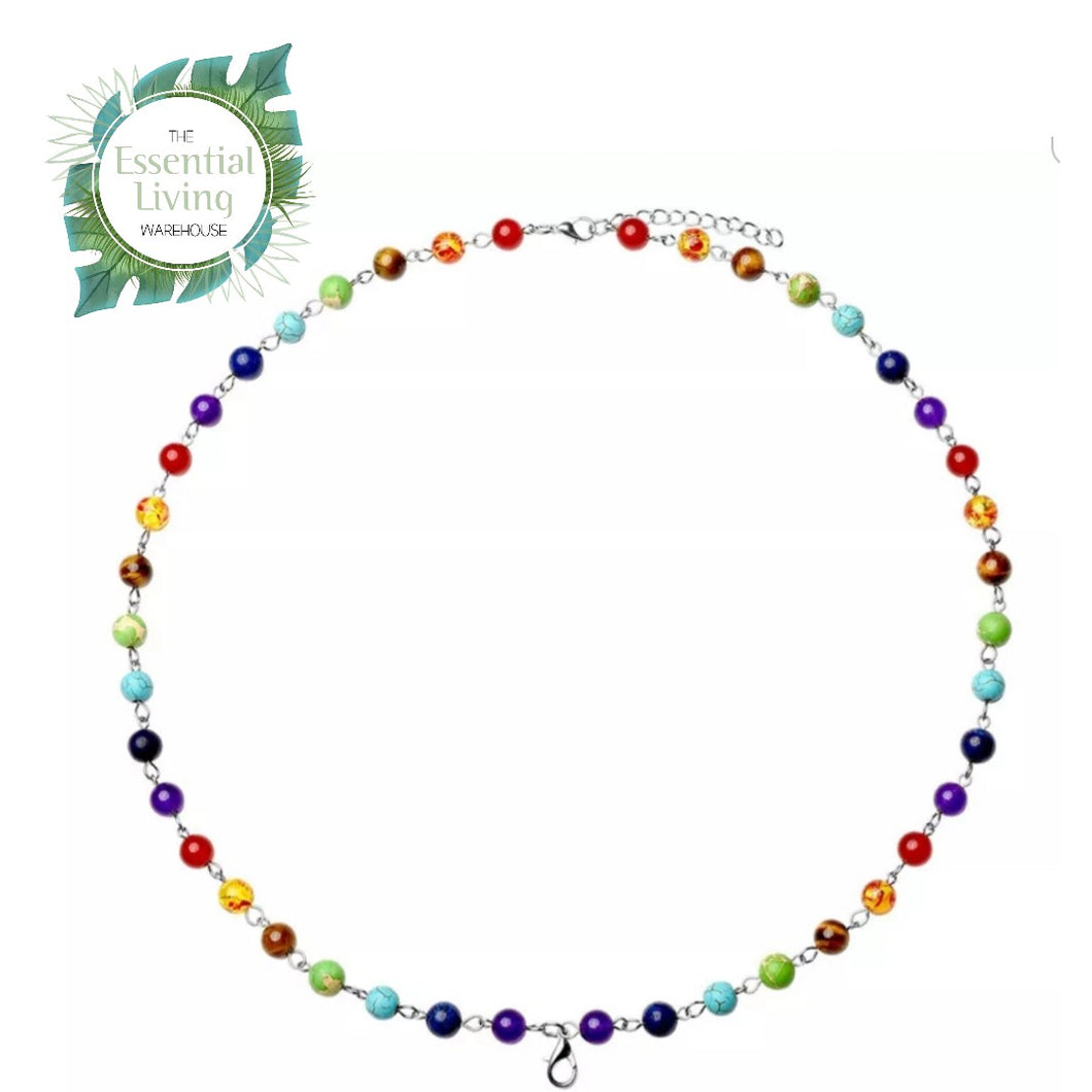 Chakra Healing Necklace with lobster clasp
