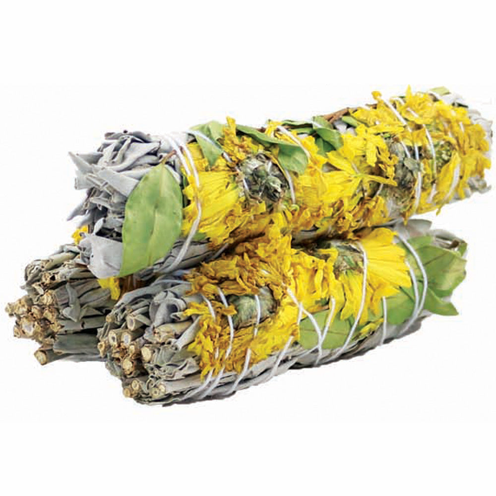 Sunflower White Sage Smudge Stick