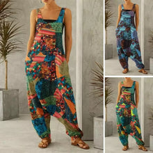 Load image into Gallery viewer, Harem Overall Jumpsuit - Blue