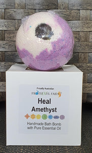 Essential Oil & Crystal Bath Bomb- HEAL- Amethyst