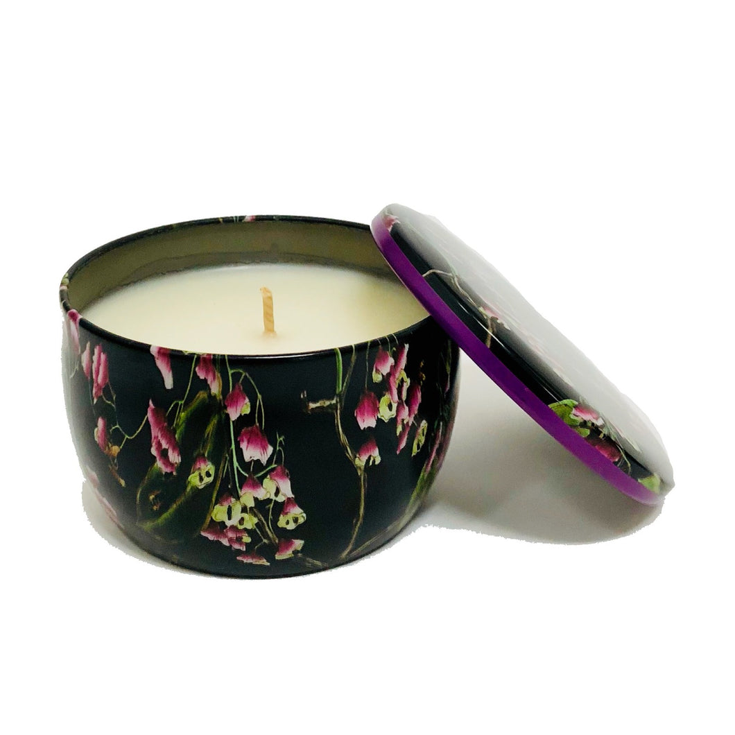 Copy of Floral Botanic Mini Candle COCONUT BEACH 120g Tin