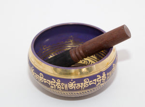 Tibetan Singing  Bowl - Purple-10.5cm