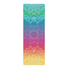 Load image into Gallery viewer, Rainbow Mandala Yoga Mat