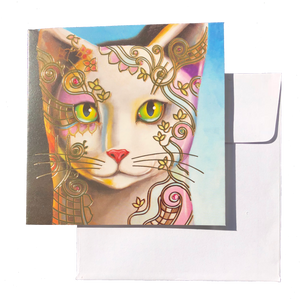 Triskele Arts Card- Adorned Cat Face
