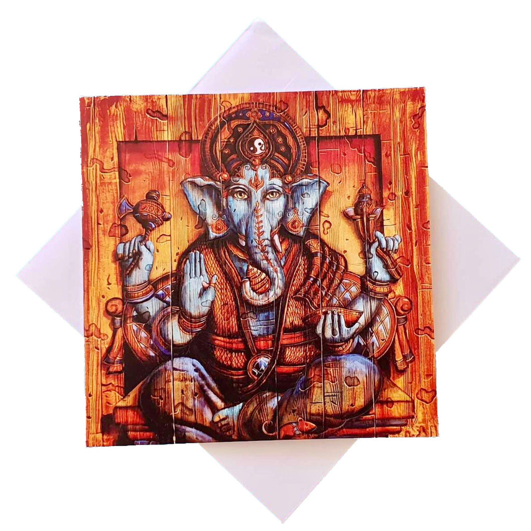 Triskele Arts Cards BLUE GANESH