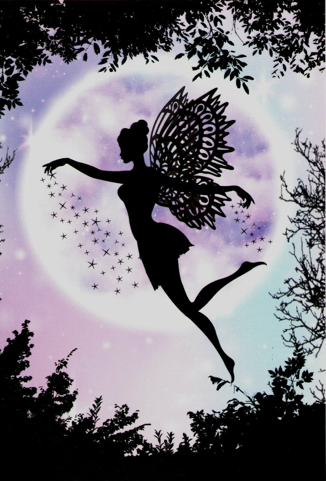 Triskele Arts Card- Fairy Purple