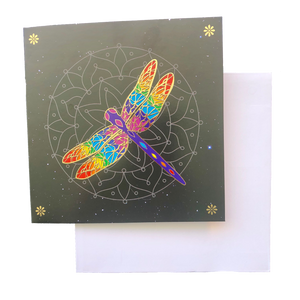 Triskele Arts Card- Golden Dragonfly