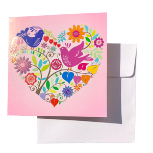 Triskele Arts Card- Heart Garden
