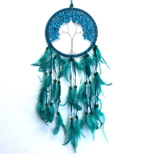 Tree of Life Crystal Dream Catcher- turquoise