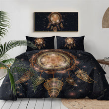 Load image into Gallery viewer, Boho Feather Dreamcatcher Doona Cover Set