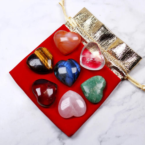 Heart Crystal Healing Set