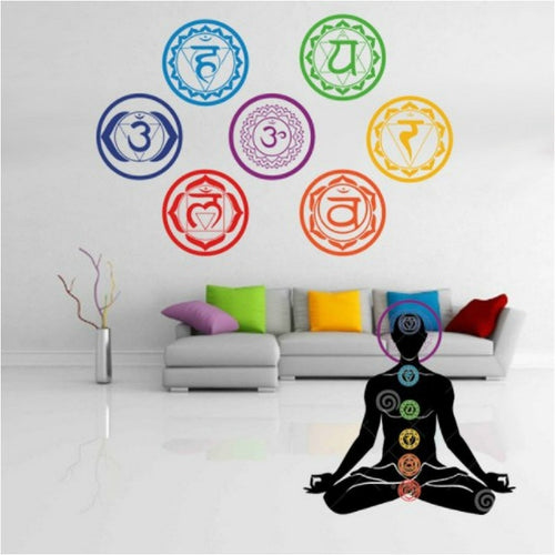 7pcs/set Chakra Vinyl Wall Stickers