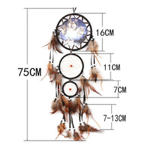 Load image into Gallery viewer, Indian BEAR Dreamcatcher with Feathers