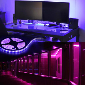 RGB LED Strip Lights - 32.8 ft SMD 5050 12V LED Tape Lights