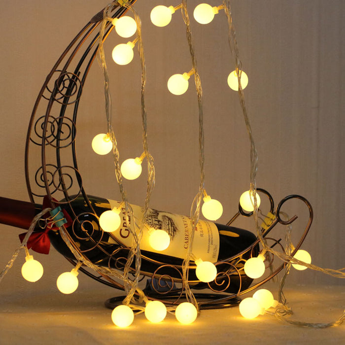 LED Ball Fairy String Lights Battery Operated(2 Pack) | Hedorance