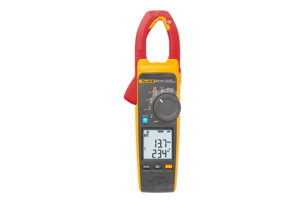 Fluke 377 FC Non-Contact Voltage True-RMS AC/DC Clamp Meter with iFlex
