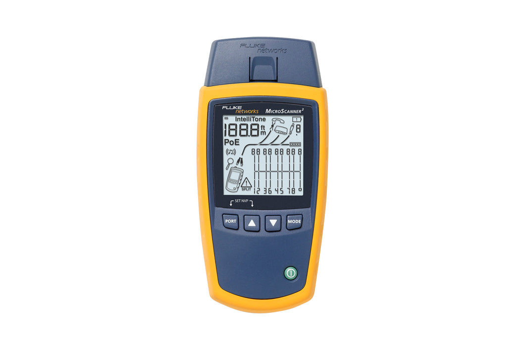 Fluke Networks MicroScanner™ 2 Industrial Ethernet Cable Verifier