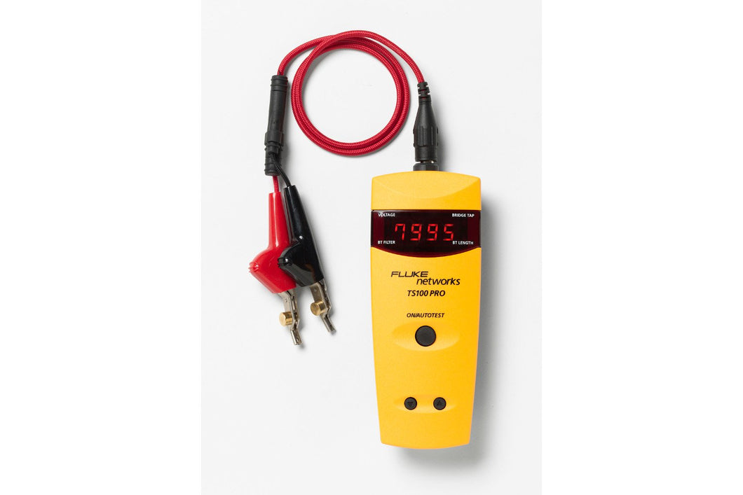 Fluke Networks TS100-PRO-BT-TDR Cable Fault Finder with Bridge Tap Detect