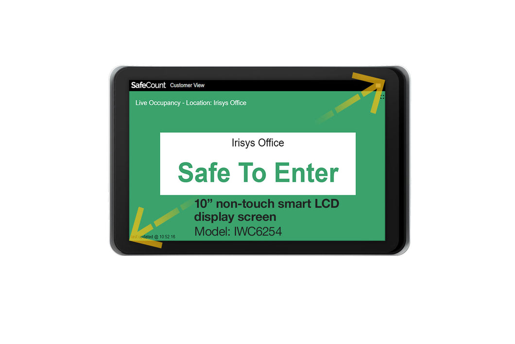 Irisys SafeCount All-in-One LCD Display