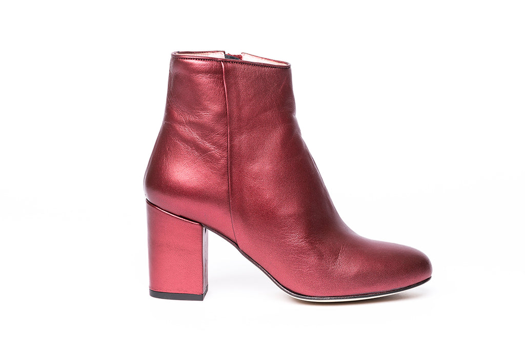 Bottines Nathaly Galaxy Bordeaux