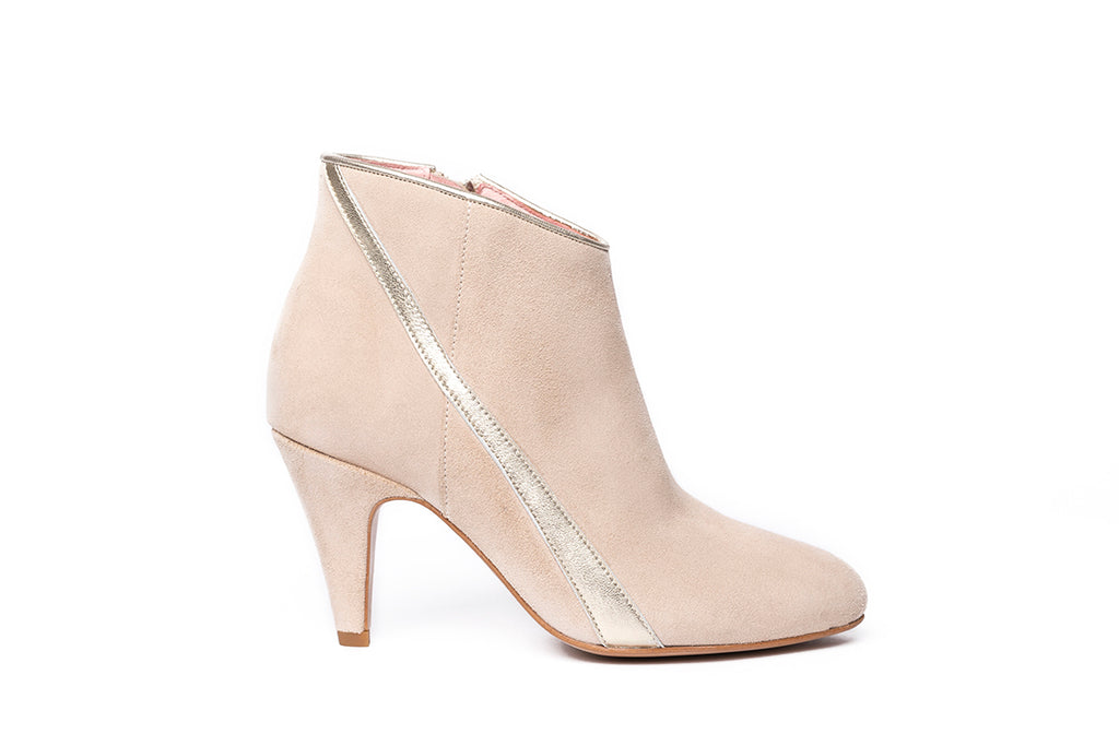 Boots Yoyo beige et Or