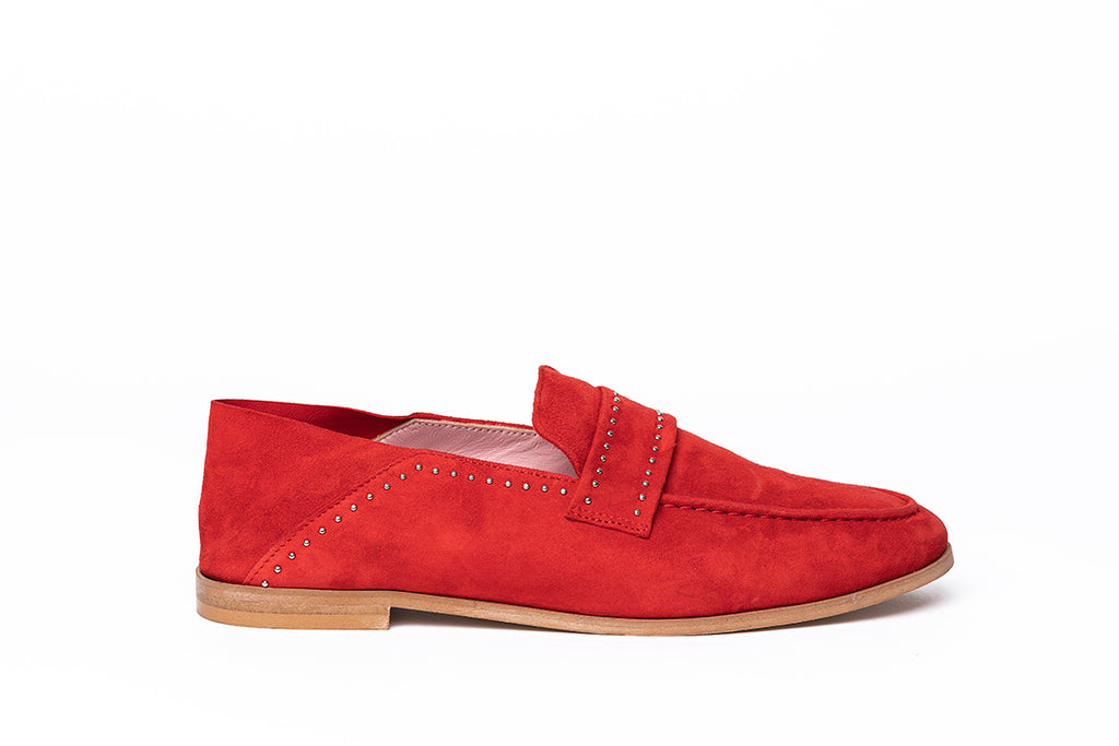 Mocassins JC rouge