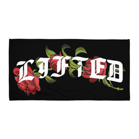 Lifted Rose Beach Towel