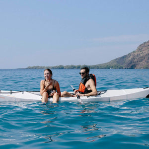 happy couple in Oru Kayak Beach LT