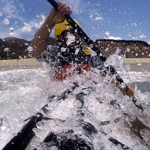 Sea kayaking with Oru Kayak Neoprene Spray Skirt