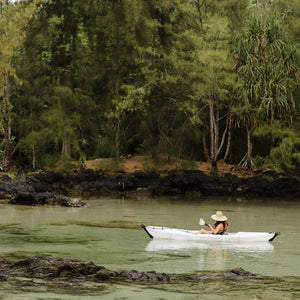 relaxing paddle in Oru Kayak Beach LT