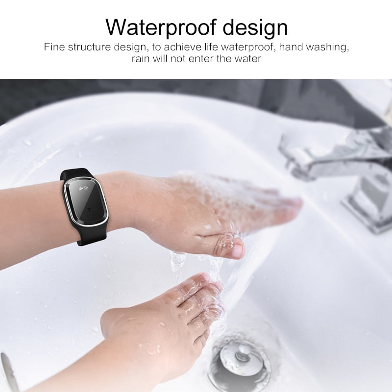 Natural Repellent - Ultrasonic Anti-Mosquito Wrist Band (w/ 3-Block Modes)