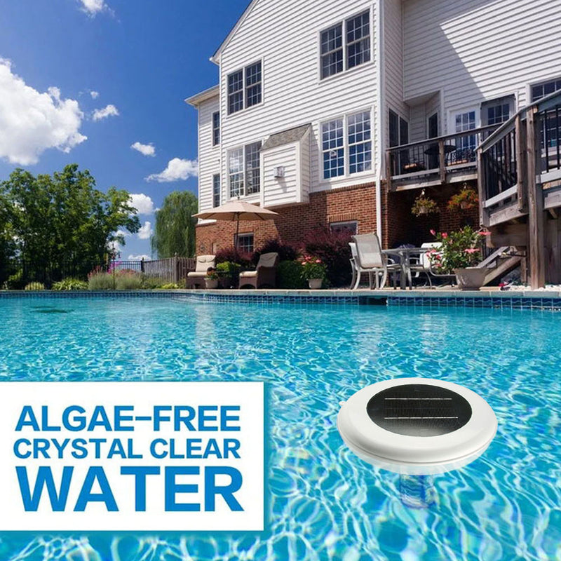 Solar-Powered Pool Ionizer - Less Chlorine up to 85%