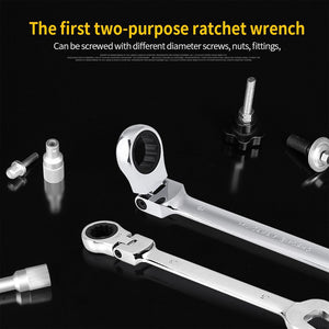 12-piece Universal Ratchet Wrench Set