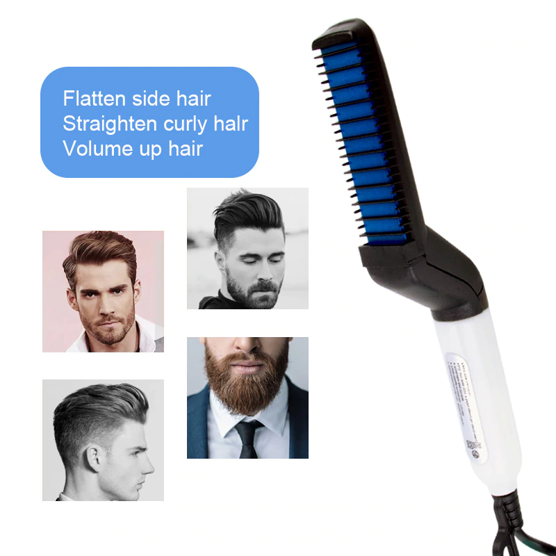 Multifunctional Hair Comb & Beard Brush Straightener