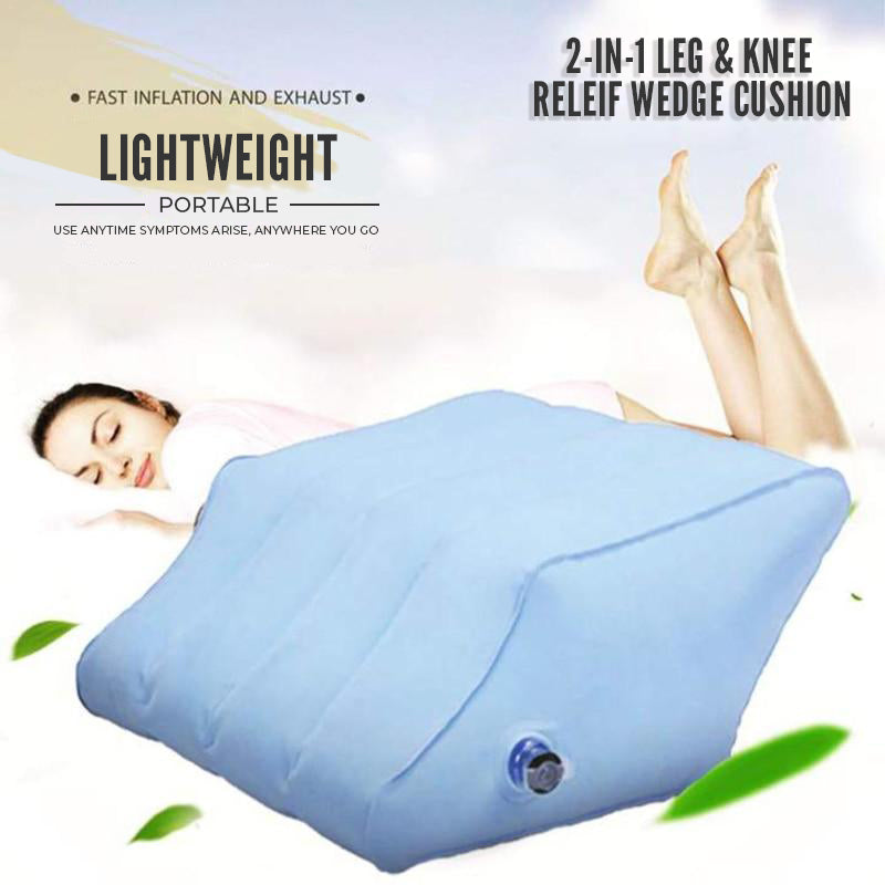 2-IN-1 Leg & Knee Relief Wedge Cushion with Deluxe Valve Upgrade